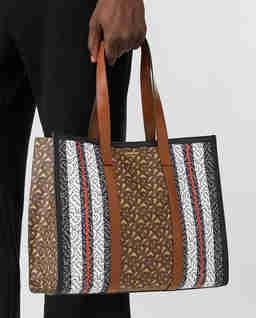 Brązowa torba z monogramem Small