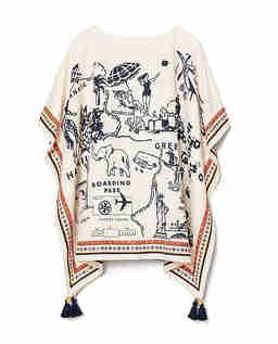 Biała tunika z nadrukami