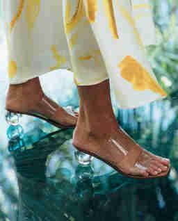 Przezroczyste sandały Jila
