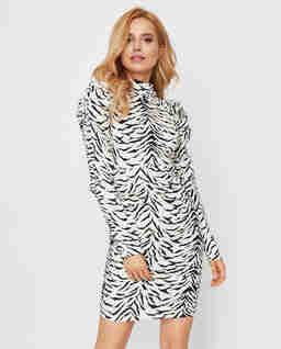 Sukienka mini w zebrę