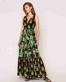 Sukienka z motywem ananasów