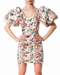 Sukienka w kwiaty mini Gracia