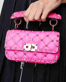 Różowa torebka Rockstud Spike mini