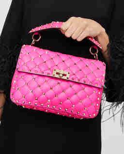 Różowa torebka Rockstud Spike medium