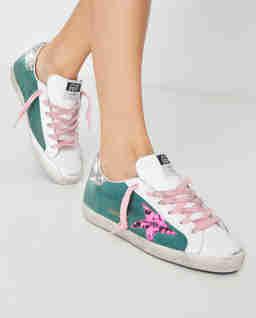 Zielone sneakersy Superstar