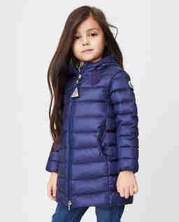 Granatowy płaszcz puchowy 4-14 lat