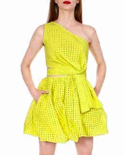 Żółta sukienka bombka Ariana Blazing
