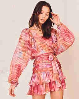Sukienka mini z jedwabiu Moxie