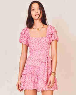 Różowa sukienka mini Kimbra
