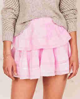 Różowa spódnica mini
