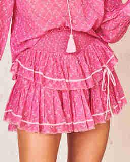 Mini spódnica z falbaną Neve