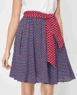 Dwukolorowa spódnica w geometryczny wzór