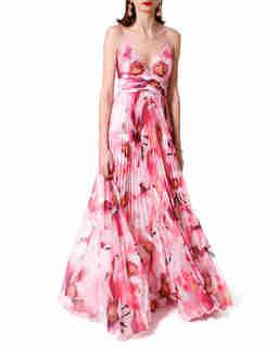Różowa sukienka z jedwabiu Belinda
