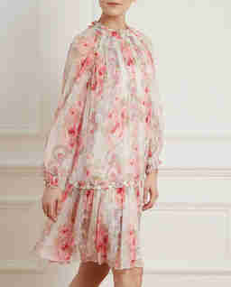 Bílé mini šaty Ruby Bloom