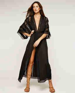 Czarne kimono Aquila