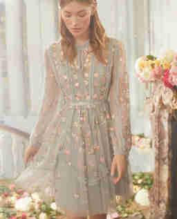 Błękitna sukienka Wallflower