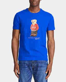 Niebieski t-shirt z misiem Polo