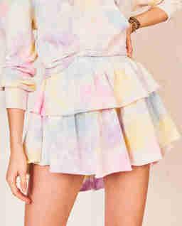 Tęczowa spódnica mini