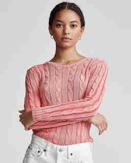 Różowy sweter z bawełny