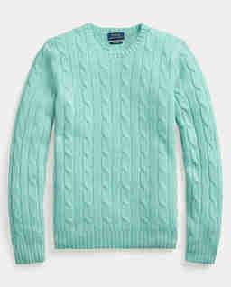 Miętowy sweter z kaszmiru