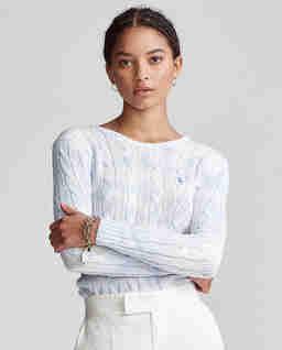 Pastelowy sweter z bawełny