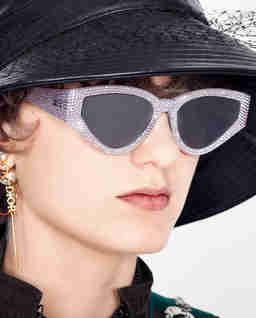 Okulary przeciwsłoneczne z kryształami Swarovskiego