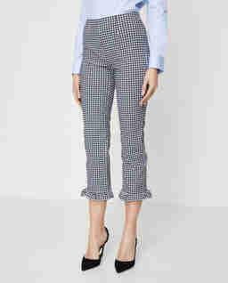 Modelujące spodnie w kratę