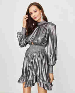 Metalické mini šaty