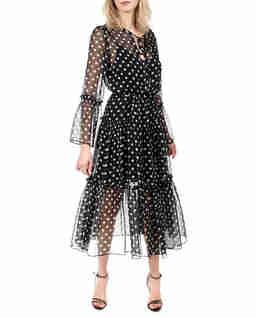Czarna sukienka z jedwabiu Mireille