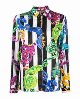Koszula w paski w stylu barokowym
