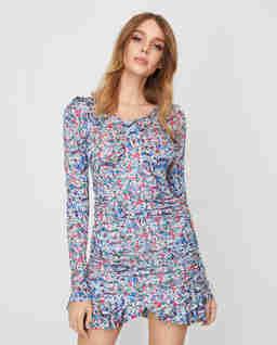 Sukienka z kwiatowym wzorem Sabia