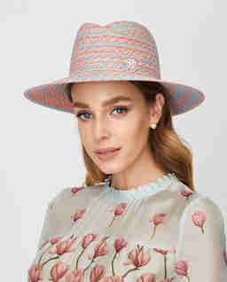 Wielokolorowy kapelusz Virginie