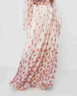 Biała spódnica z jedwabiu Sienna