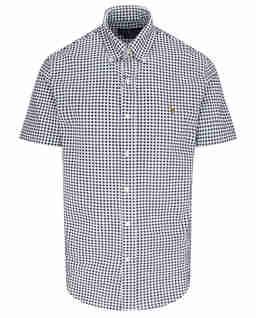 Koszula z krótkim rękawem we wzór Slim Fit