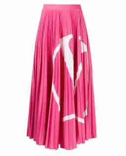 Różowa plisowana spódnica VLogo