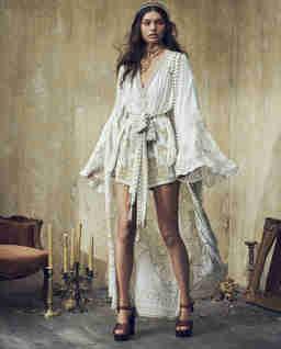 Jedwabne kimono we wzór
