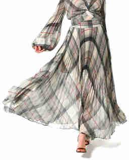 Jedwabna spódnica w kratę Melissa