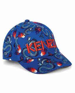 Niebieska czapka z nadrukami 5-14 lat