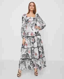Sukienka maxi z wycięciem z tyłu Mirmo
