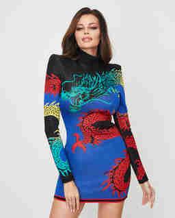 Sukienka mini ze smokiem