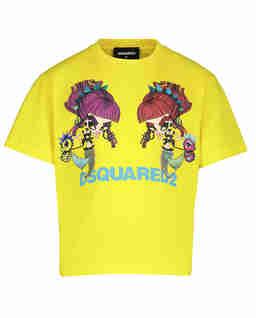 Żółta koszulka z nadrukiem 4-12 lat