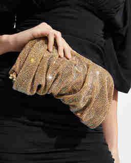 Złota torebka z kryształami Wenus Large