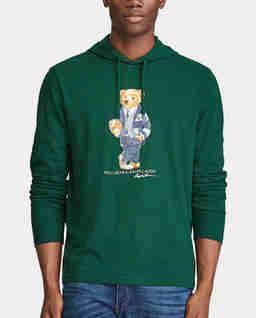 Zielona bluza z misiem