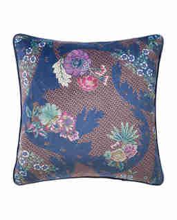 Aksamitna poduszka w kwiaty Palmio