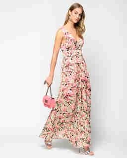 Plisowana sukienka w kwiaty Hasko