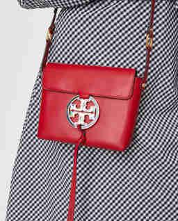 Czerwona torebka Miller z logo