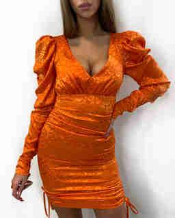 Pomarańczowa sukienka w cętki Vivien