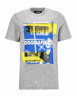 Szary t-shirt z nadrukiem 6-14 lat