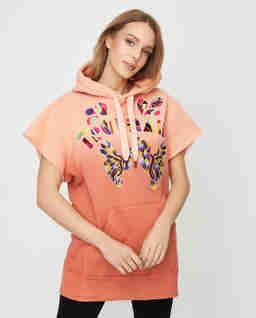 Pomarańczowa bluza z krótkim rękawem Miami