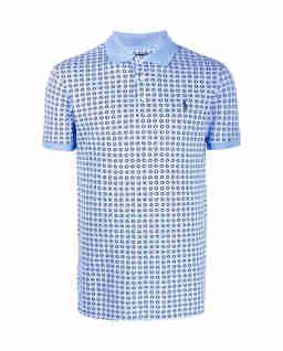 Niebieska koszulka polo Slim Fit